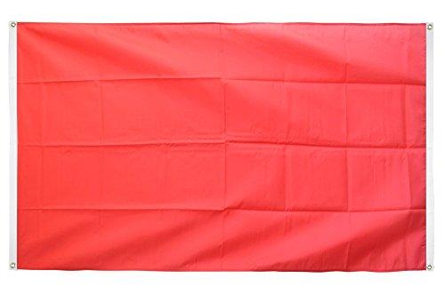 Digni Drapeau de balcon (avec 4 oeillets) Unicolore Rouge - 90 x 150 cm sticker gratuit