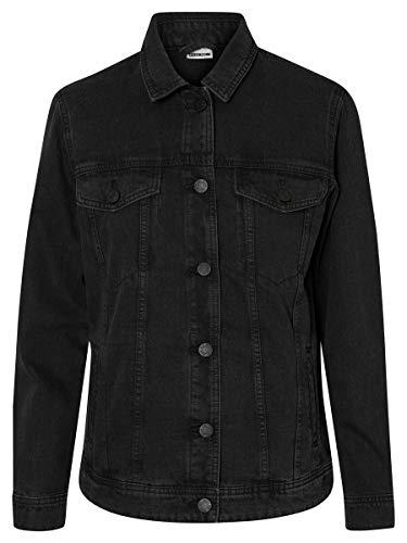 Noisy May Nmole L/s Denim Jacket Noos Chaqueta Vaquera, Negro (Black Black), 40 (Talla del Fabricante: Medium) para Mujer