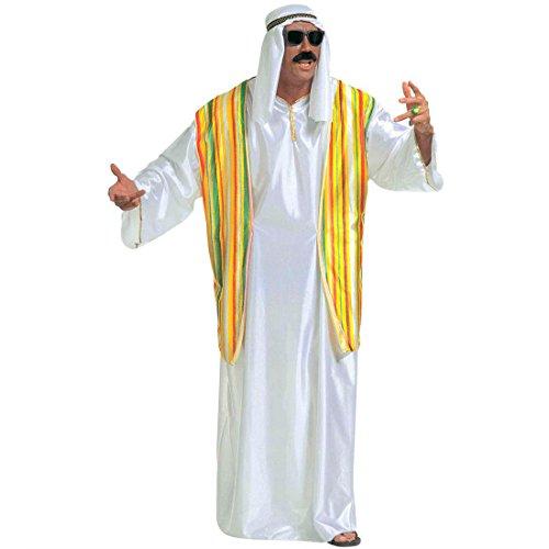 Scheich Kostüm Araber Scheichkostüm weiß XL (54) Orient Araberkostüm Herren Orientkostüm Sultan Faschingskostüm Kalif Ölscheich Tuareg Beduine Selim Arabisches Karnevalskostüm 1001 Nacht Mottoparty