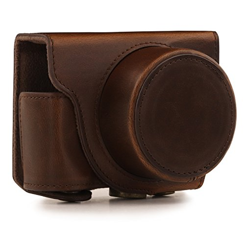 MegaGear Ever Ready Protective Leather Camera Case, Bag for Nikon 1 J5 with 10-30mm Compact System Camera (Dark Brown)