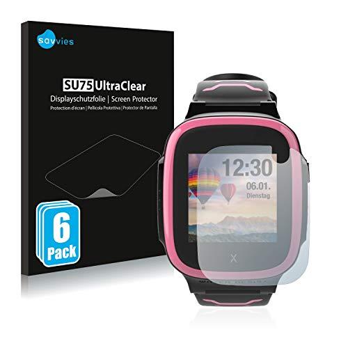 Savvies 6X Schutzfolie kompatibel mit Xplora X5 Play Bildschirmschutz-Folie Ultra-transparent