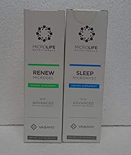 Vasayo Microlife Renew Microgel and Sleep Micromyst Dietary Supplement (Pack of Two)