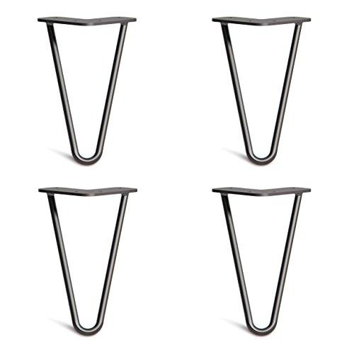 4x Haarnadel Tischbeine Austauschbare Tisch&Schrank Beine für Heimwerker - Mitte des Jahrhunderts Modern Stil - Verfügbar in Höhe von 10cm-86cm - Freie Bodenschoner und Schrauben