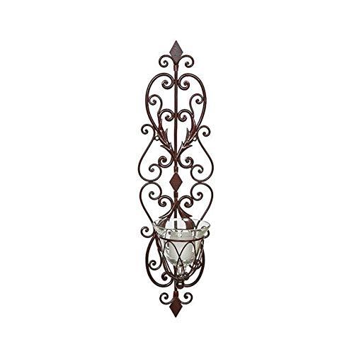 Kandelaars Voor Tafel Creatieve Amerikaanse Metalen Wandkandelaars Retro Klassieke Muur Opknoping Kandelaar Binnenplaats Decor Bougeoir Gift Theelicht (Kleur: 52X15Cm)