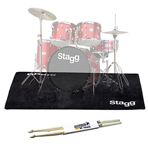 Stagg SCADRU2016 Schlagzeug Teppich 200x160 + keepdrum Drumsticks