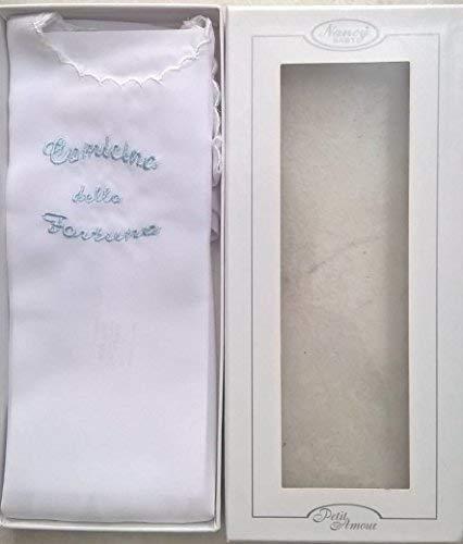 camicina fortuna in seta nancy baby manica lunga scritta in vari colori a scelta art. 100
