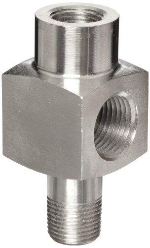 Enerpac GA-Series Gauge Adaptor, Stainless Steel, 3/8 Male x 3/8 Female Thread, 1/2 NPTF Gauge Port, 71mm Length by Enerpac