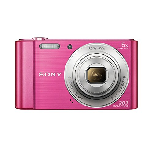 "Sony DSC-W810 - Cámara compacta de 20.1 Mp (pantalla de 2.7"", zoom óptico 6x, estabilizador digital), rosa"