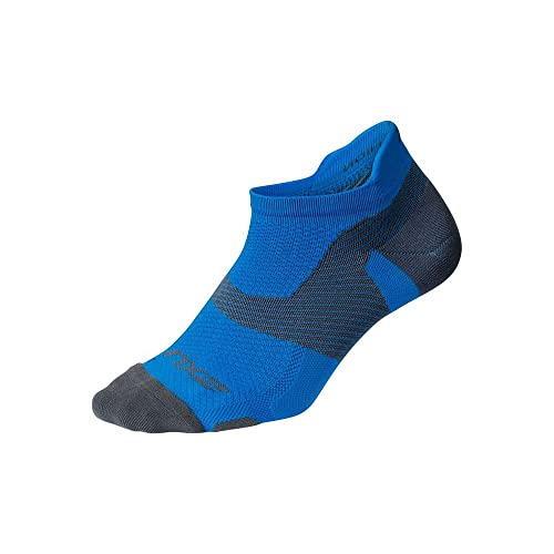 2XU Vectr Light Cushion No Show Socks, Lebendiges Blau/Grau, Large