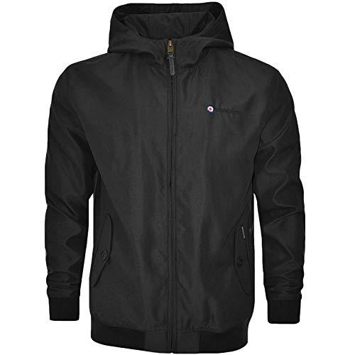 Lambretta Hooded Shower Resistant Harrington Jacket - Black - L