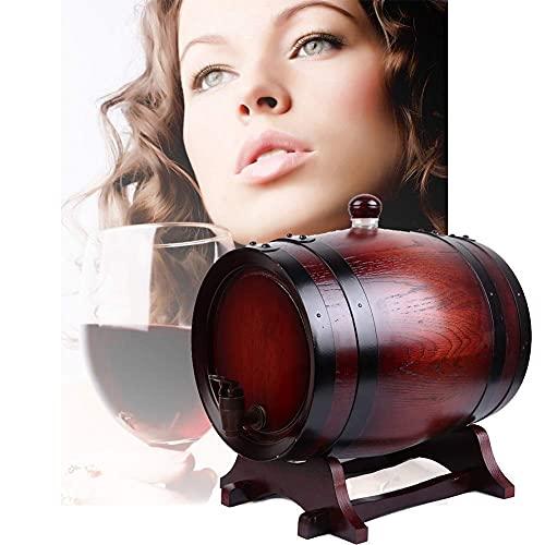 GAXQFEI Whi Barrel Regalos, Barril de Vino de Madera de Madera de Madera de la Vendimia, Hecha a Mano con Roble Blanco, para el Envejecimiento de Whi Barrel Barrel Cerveza Alenamiento Mini Barril de