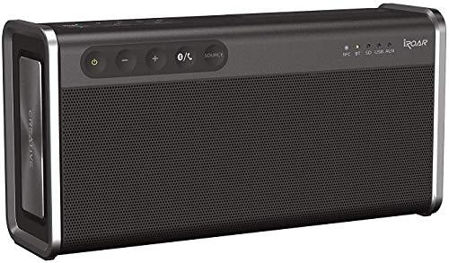 Creative iROAR Go - Leistungsfähiger, wetterfester 5-Treiber Bluetooth Lautsprecher, schwarz