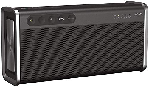 Creative iRoar Go - Potente Altavoz con Bluetooth, Resistente a la Intemperie de 5 Conductores, Color Negro