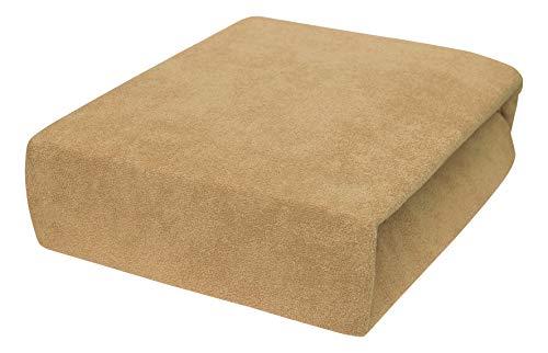 Drap housse avec élastique éponge de 4 grands 70x140 bis 90x160 cm 22 Farben (70x160 cm, beige)