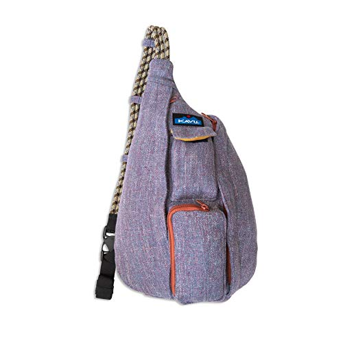 KAVU Mini Rope Tweed Bag Sling Crossbody Backpack Travel Purse - Vintage Violet