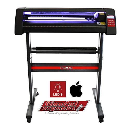 PixMax - Plotter da Taglio Vinile Macchina per Taglio e Incisione Insegne Etichette Guida Laser - Abbonamento 12 Mesi Software Signcut Pro - LED - 720mm
