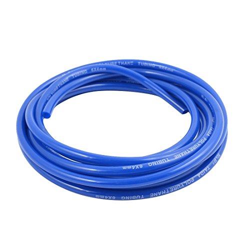 sourcing map Tubo de compresor de aire neumático de 6 mm x 4 mm Tubo de manguera de PU Tubo de 3 metros Azul