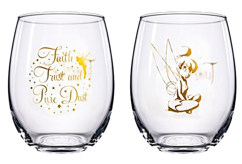 Disney Collectible Wine Glass Set (Tinkerbell)