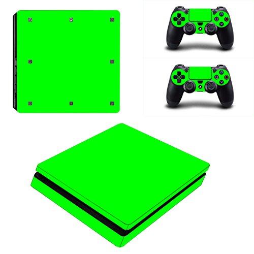 Stillshine PS4Slim Vinyl Skin Decal Pegatina Adhesivo para Playstation 4Slim Console & 2Dualshock Mando Set Verde All Green