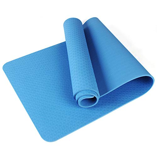 Home Gyms Yoga Mat Xn8 Non Esercizio Slittamento Yoga Mat Thick-Carry-Bag-Pilates-Fitness (Color : Blue)