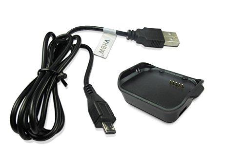 vhbw Ladestation Lade Schale Dock mit Micro USB Kabel passend für Uhr Samsung Gear 2 Smart Watch SM-R380.