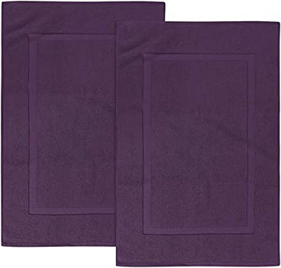Utopia Towels Cotton Banded Bath Mats, 2 Pack (53 x 86 cm) from Utopia Towels