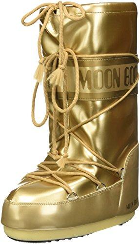Moon-boot Vinil Met, Stivali da Neve Unisex-Adulto, Oro (Oro 003), 39 EU