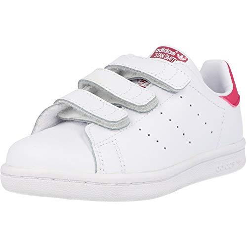 adidas Originals Stan Smith CF C - Scarpe per bambini, unisex, multicolore (Ftwr White/Ftwr White/Bold Pink), taglia 31