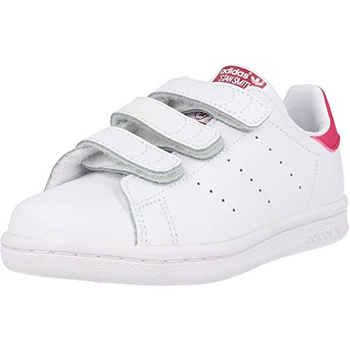 adidas Originals Unisex-Kinder STAN SMITH CF C Low-Top Weiß (FTWR White/Bold Pink), 35 EU