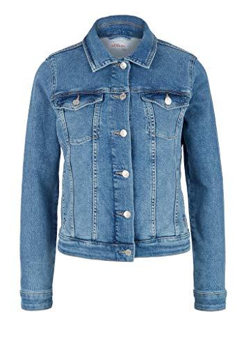 s.Oliver RED Label Damen Jeansjacke mit Wascheffekt Blue 42