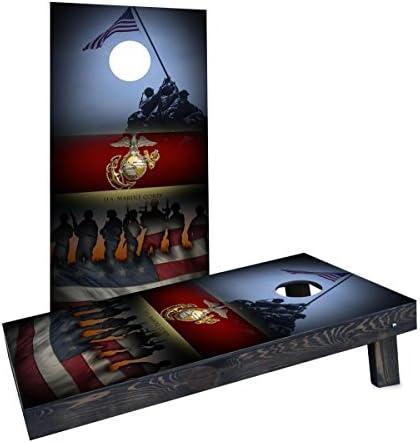 Custom Cornhole Boards CCB1244 2x4 C United States Marine Corps Cornhole Boards product image