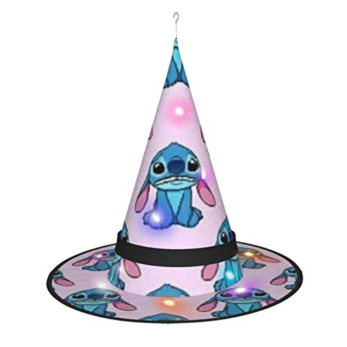 Stitch Witch Hat Lights Halloween Decorations For Home Garden Outdoor Yard Tree Party