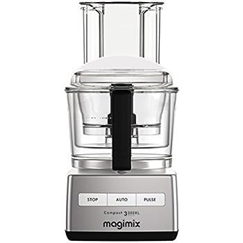 Magimix Compact 3200 XL 650W 2.6L Cromo - Robot de cocina (2,6 L, Cromo, Botones, 650 W, 190 mm, 225 mm): Amazon.es: Hogar
