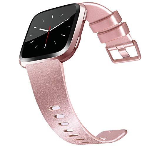 Vanjua - Pulsera compatible con Fitbit Versa 2 / Fitbit Versa / Fitbit Versa Lite para mujeres y hombres, correa de repuesto ajustable suave para Versa Smart Watch, grande, 05 Or Rose, small