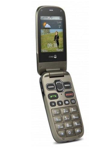 Doro PhoneEasy 622 Großtastenhandy im Klappdesign schwarz/mocca