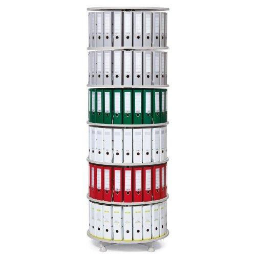 Ordner-Drehsäule 6 Etagen bis zu 144 Ordner, 800mm Durchmesser