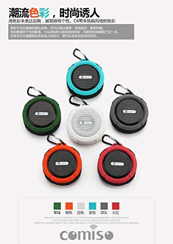 rongweiwang Altavoz Bluetooth C6 Impermeable Ruidoso estéreo Sonido Fuerte Apoyo TF Tarjeta de Equipo estéreo al Aire Libre Altavoz inalámbrico, Rojo
