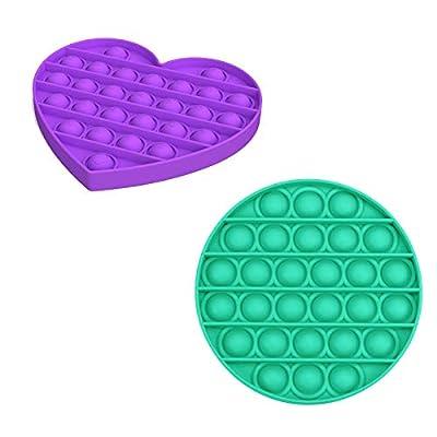 Coriver Push Pop Pop Bubble Juguete sensorial Fidget, Juguete sensorial para apretar Necesidades Especiales Alivio del estrés Juguetes para aliviar la ansiedad para el Autismo de Coriver