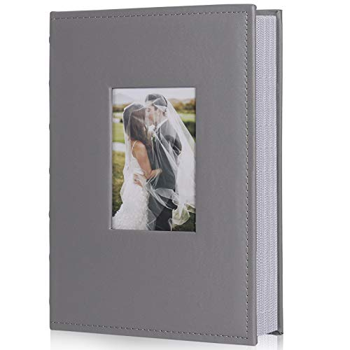Pack of 12 Holds 48 Photos 4 x 6 Inch Better Office Products 48 Photo Mini Photo Album 12 Pack Clear View Cover with Removable Decorative Inserts