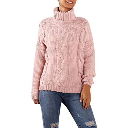 Buy Discount KYLEON Women Sweaters Casual Turtleneck Long Sleeve Chunky Knitted Pullover Sweater Ove...