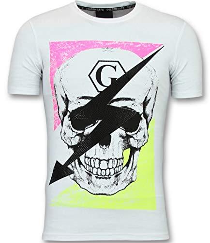 T-Shirt Met Doodskop Heren - Funny Shirts Nederland - Wit