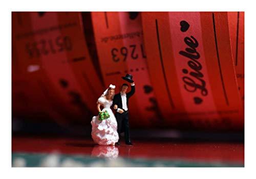 Coole schöne Postkarte mit weißem Rand meiner Foto-Kunst - Hochzeit-Paar Liebes-Film Freude | schöne Braut und Bräutigam zum Verschicken und Verschenken von Fotografin aus Berlin