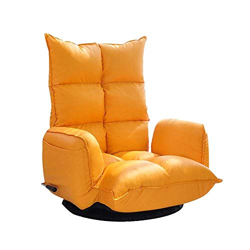 Diaod Perezoso sofá, Silla del Ocio Perezoso, Casual Plegable sofá Perezoso, 67cmx70cm Naranja