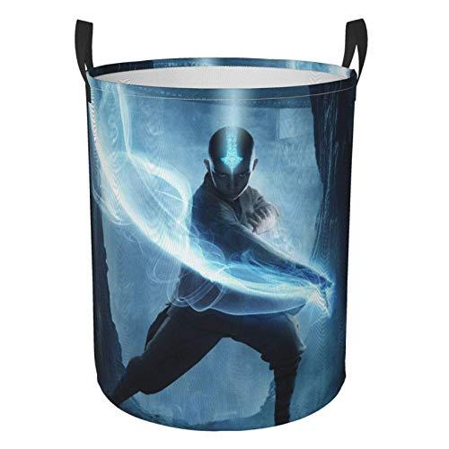 niushan Avatar T Airbender - Cesta de lavandería para ropa de anime, impermeable, plegable, con asas y bolsa de almacenamiento redonda, para cuarto de baño/dormitorio/dormitorio