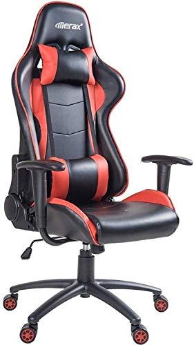 Silla de Oficina Giratoria E-Sports Gaming silla ajustable giratoria Silla de oficina, silla firme de ordenadores del trabajo, silla de oficina, altura ajustable, silla de la computadora, cuero de la