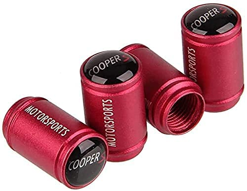4 Piezas Neumáticos Tapas Válvulas para Mini Cooper S All Models, Antipolvo Tapones de Coche Decoración Accesorios
