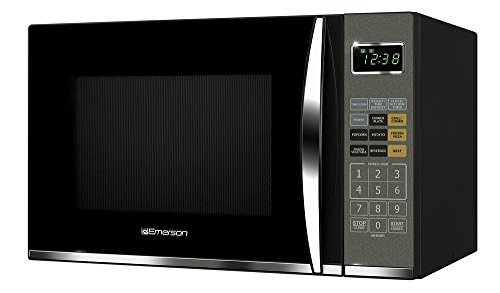 Emerson MWG9115SB, 1.2 Cu. Ft. 1100W Touch Control, Stainless Steel Microwave Oven with Grill (1.2 cu. ft, Black)(Renewed)