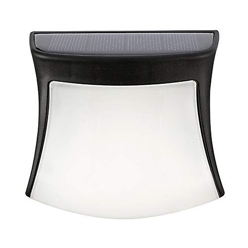 Rouku Luce Solare Energia Solare 3 LED Luce per grondaia per Recinzione Controllo della Luce Impermeabile per Lampada da Parete per Percorso da Giardino Esterno (Bianco Caldo)