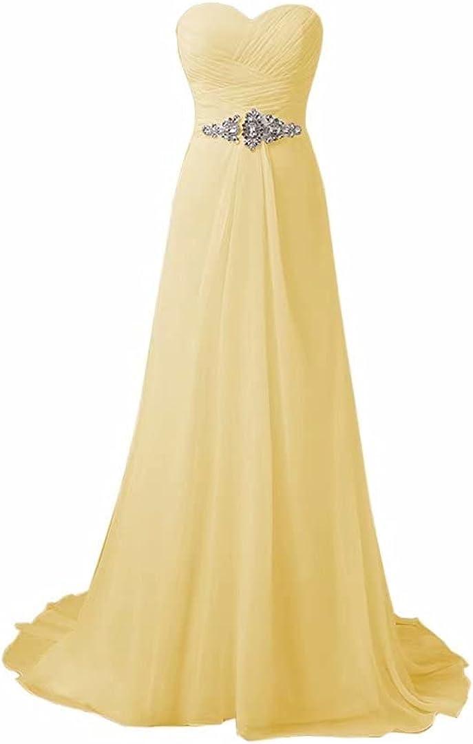 DDWW Elegant Wedding Dress for Bride Chiffon Evening Dress Formal Dress with Beads