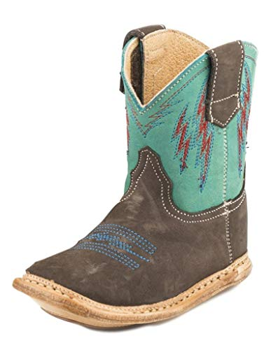 Baby Deer Baby Girls Infant Soft Sole Western Boot, Red, 3